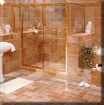 Gold 643 with Buttress Glass Shower Door